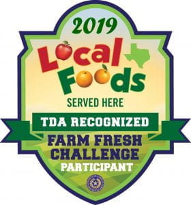 2019 Local Foods served here TDA recognized