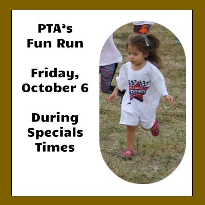 PTA's Fun Run October 6