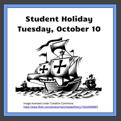 Student Holiday October 10