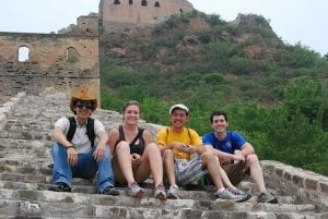 students on the great wall