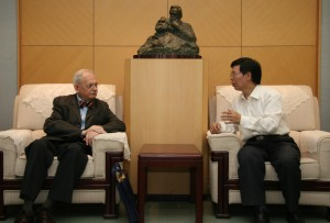 Suffolk's Ron Suleski in China with scholar Yang Jinhai