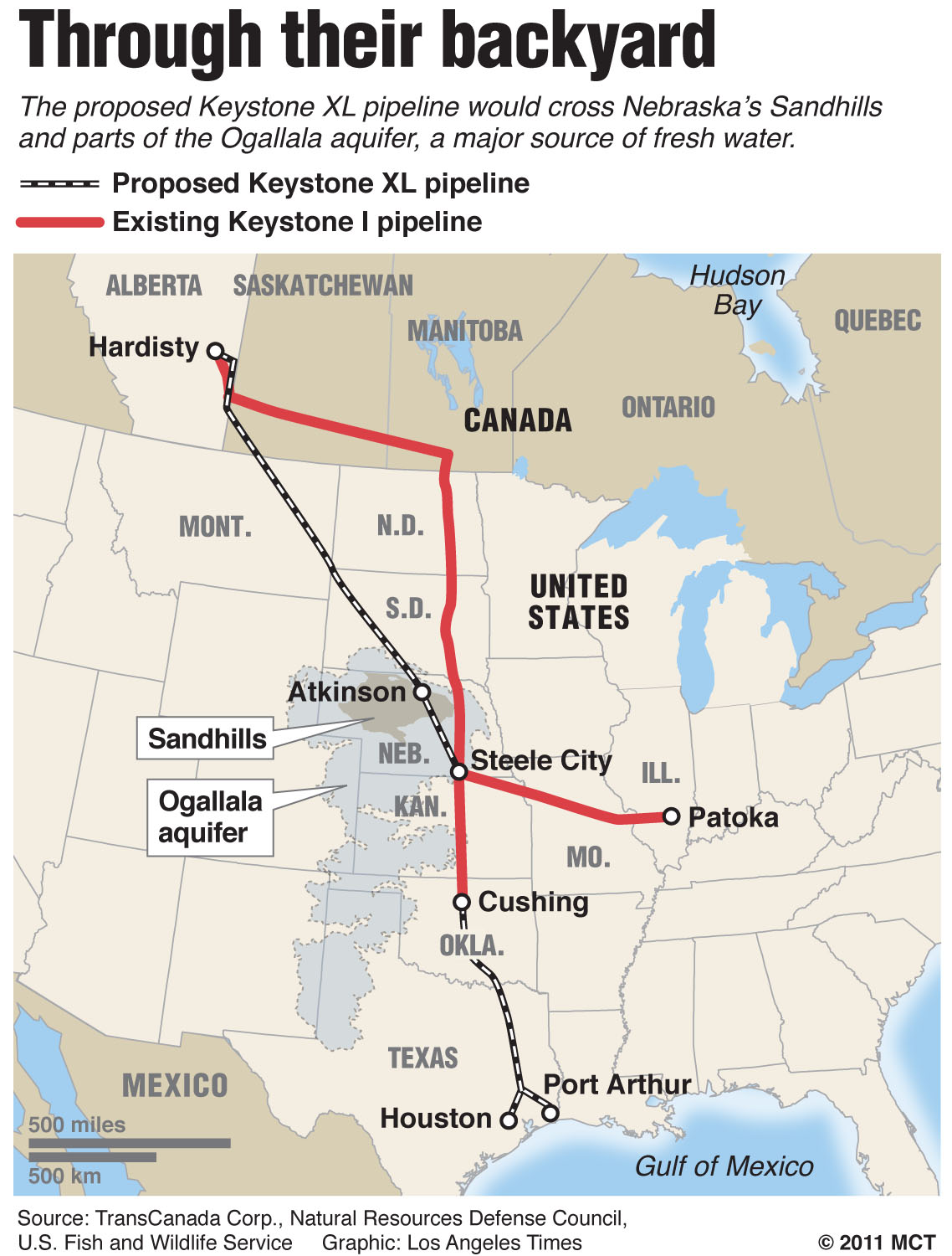 Keystone XL Pipeline Route Planned Through Central United States - Central united states map