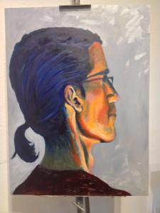 My big head painting- it's three feet tall!