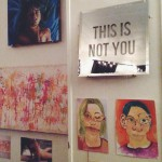 """This Is Not You"", my mirror alongside some other art from the art show!"