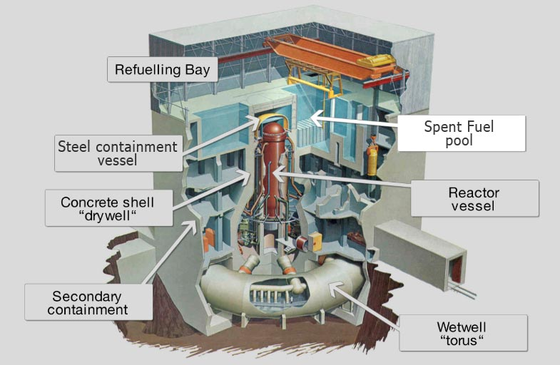 Image result for fukushima reactor design