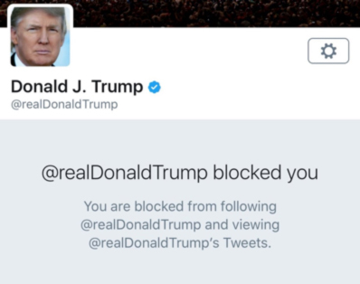 @realDonaldTrump Blocked You