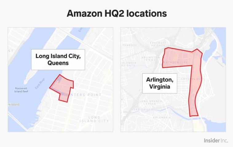 Amazon HQ2 –– Principal Place(s) of Business?