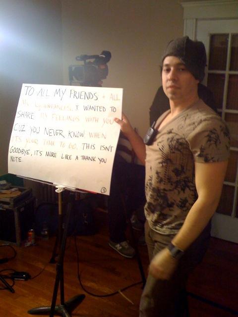 Ross at video shoot