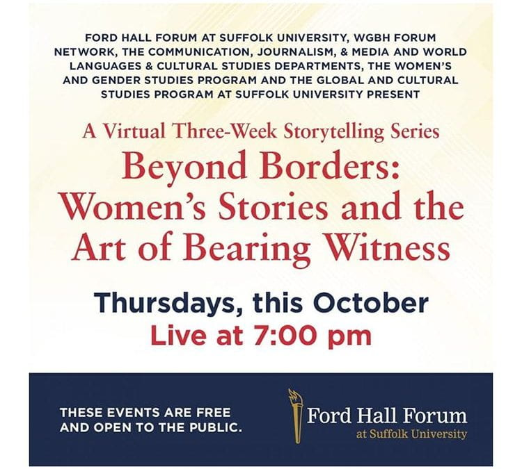 The Art of Bearing Witness, Week 3, Thursday, October 29, 2020, Live at 7:00 pm