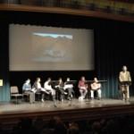 Lectura dramatica- todo el grupo de actores en C Walsh Theatre, Suffolk University