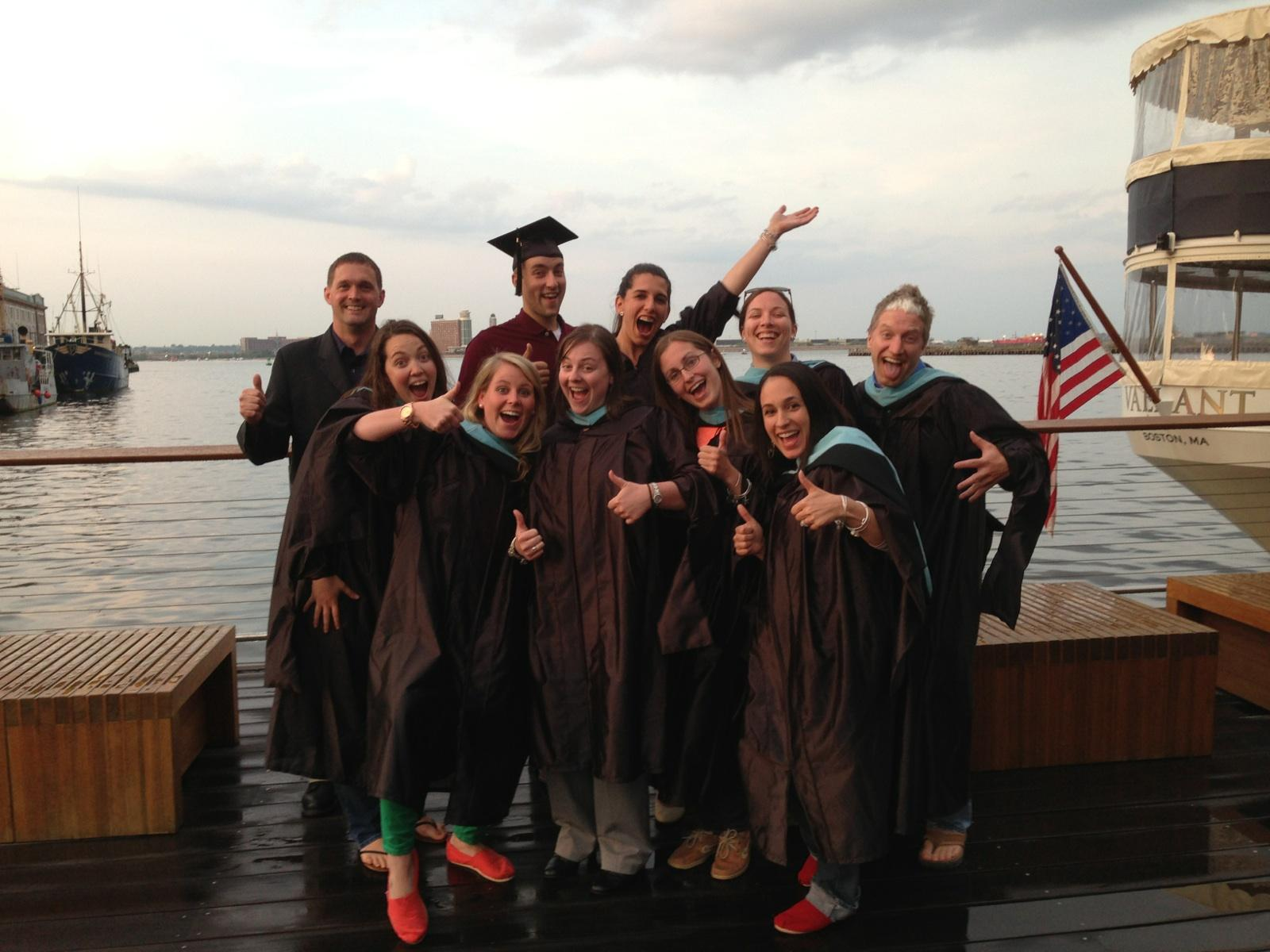 2013 graduates at Jerry Remy's, the 'fun' picture (thanks Jane!)