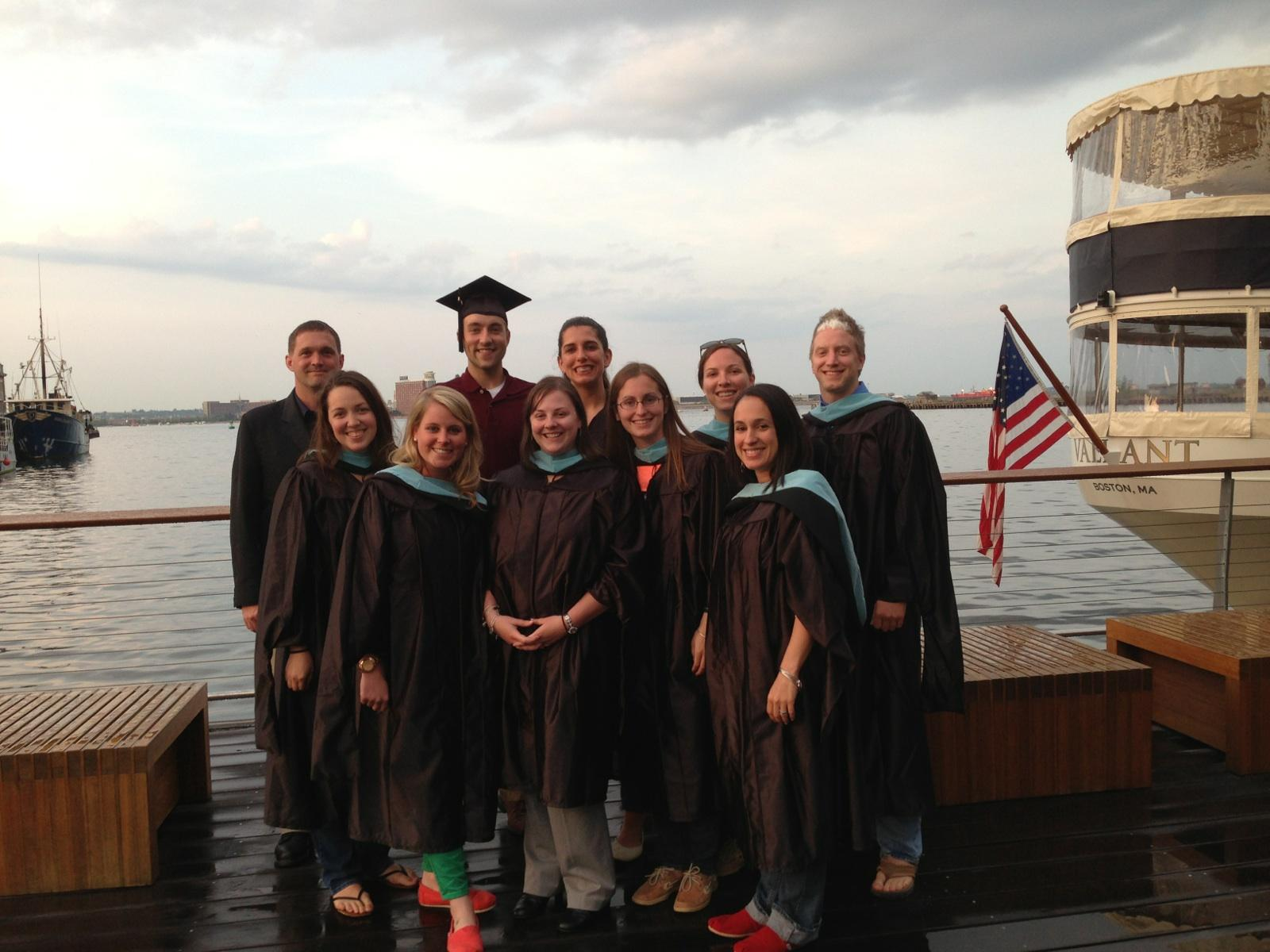 2013 graduates at Jerry Remy's, the 'serious' picture