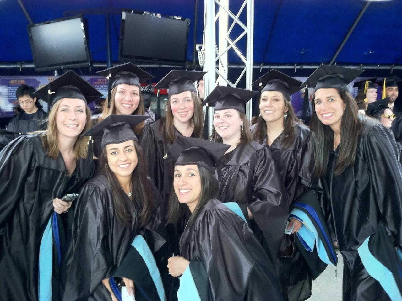 2013 graduates at the Bank of America Pavilion