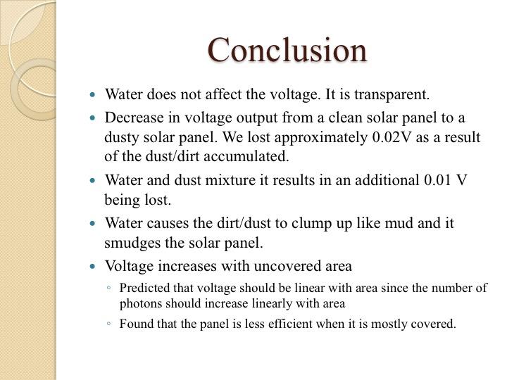 Science lab report  |Experiment Conclusion Ks2