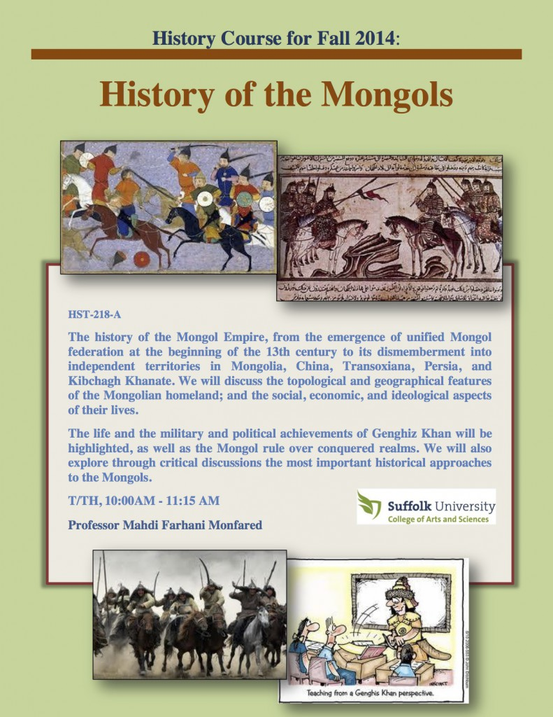 Mongols_History Course for Fall 2014