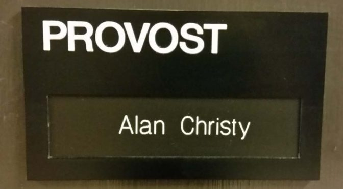 Provost Office Door Sign
