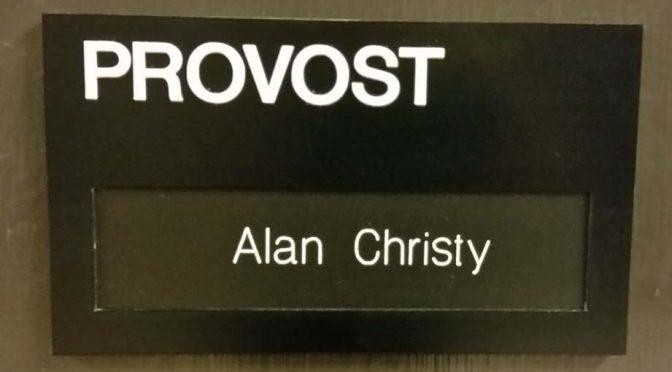 Provost Office Door Sign