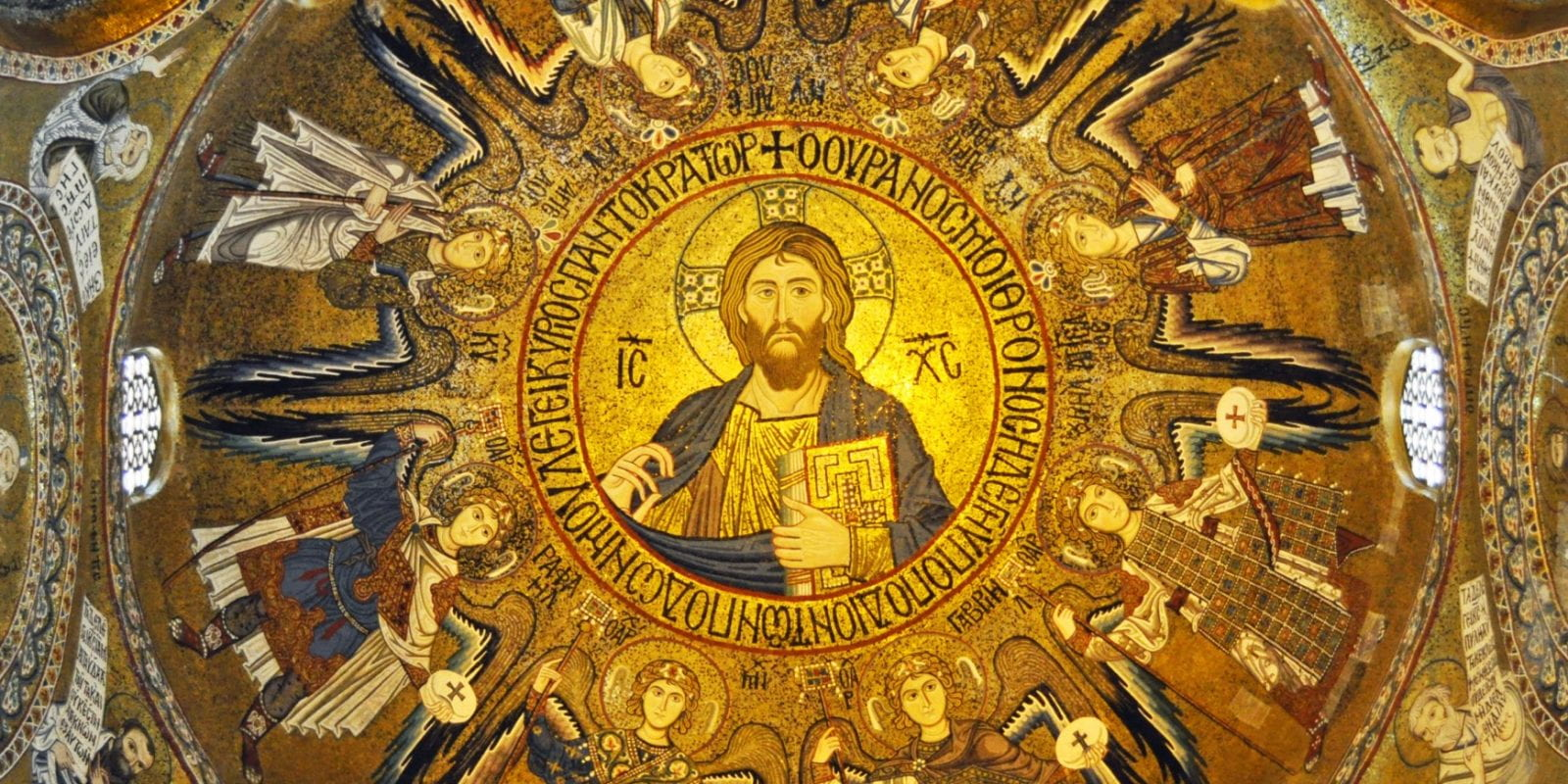 Pantocrator in the dome of the Palatine Chapel, Palermo