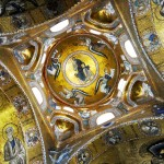 The dome of the church of the Martorana, Palermo, Sicily