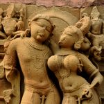 Mithuna or Loving Couple on the Kandariya Mahadeva Temple