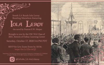 South LA Reads Iola Leroy