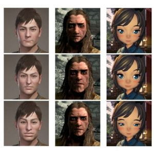Faces from Monster Hunter, Skyrim, and Blade and Soul