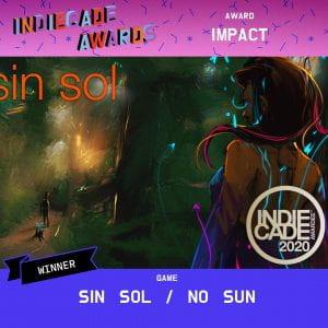 Indiecade 2020 Impact Award - Sin Sol