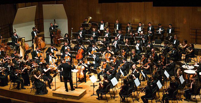 Photo of performance by UC Berkeley Symphony
