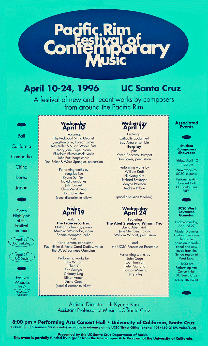 Pacific Rim Festival of Contemporary Music 1996