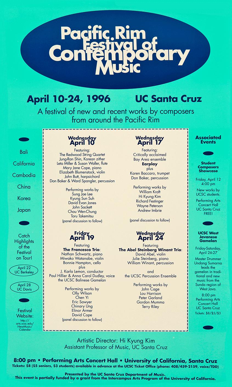 Pacific Rim Festival of Contemporary Music 1996