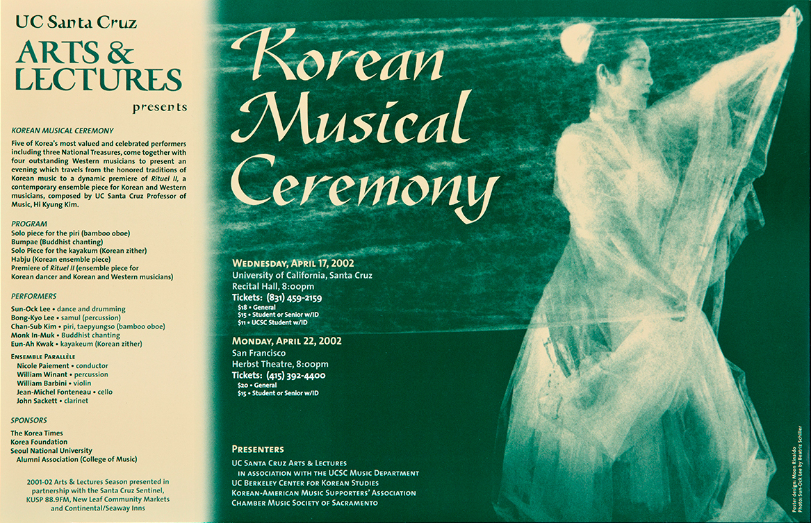 Poster Korean Musical Ceremony 2002