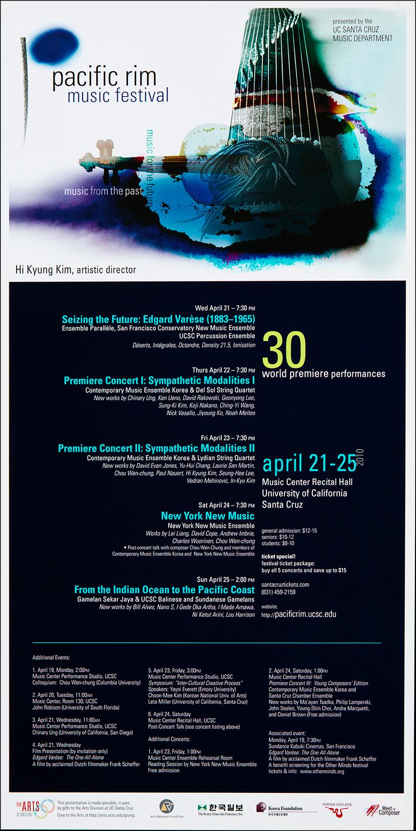 Poster Pacific Rim Music Festival 2010