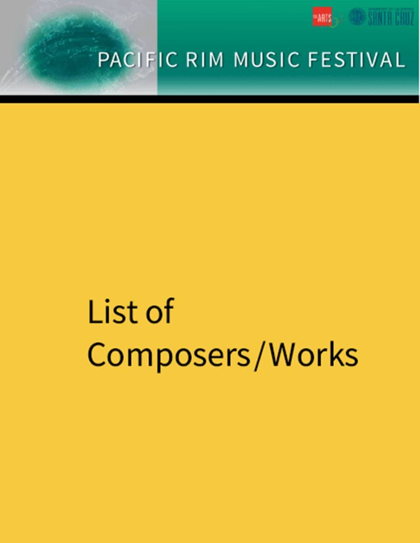 List of composers/Works