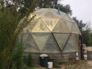 a small dome greenhouse