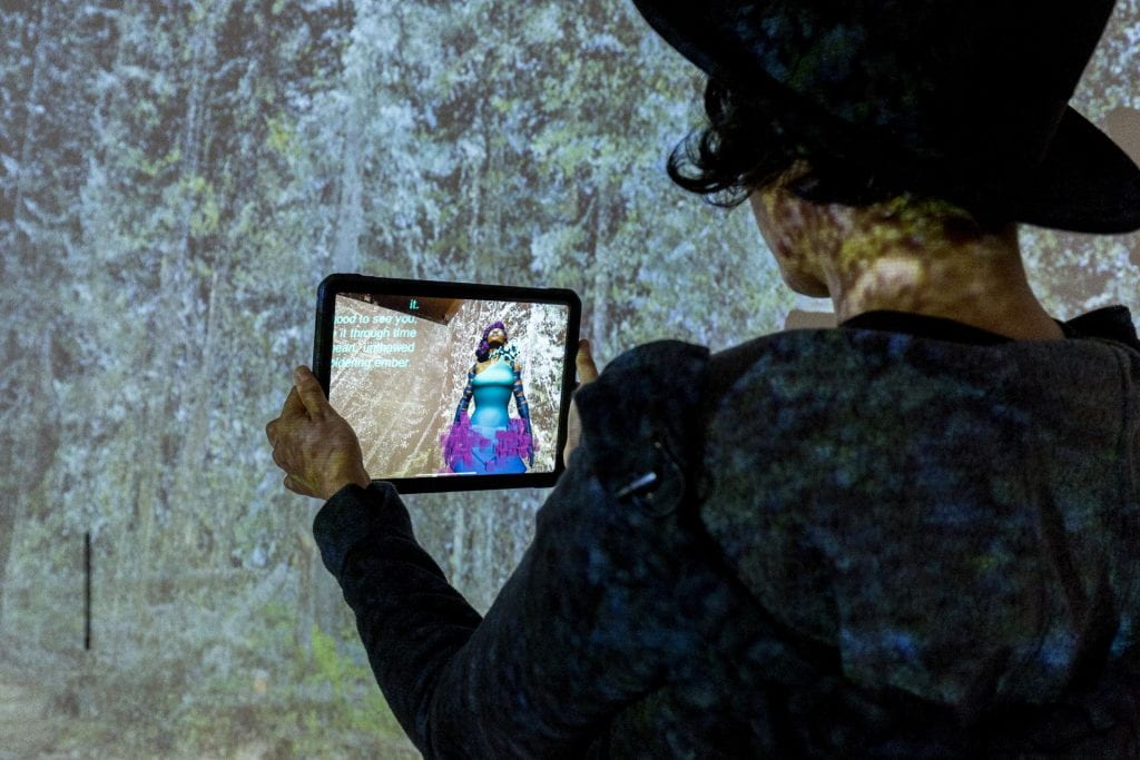 Sin Sol augmented reality installation at Leslie Lohman Museum