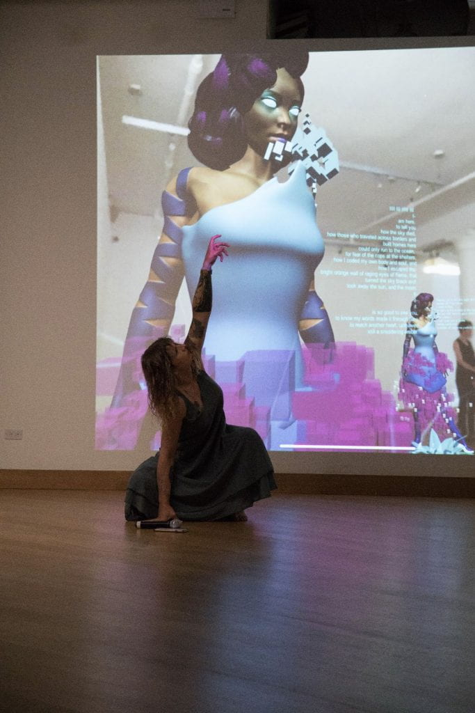Sin Sol augmented reality performance at Leslie Lohman Museum