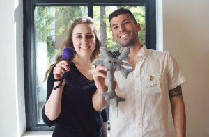 Undergraduate Researchers Hannah Finegold and Eric Flores Alvarez, UCSC SJRC Just Data? Conference 2016, Photo: Melissa De Witte