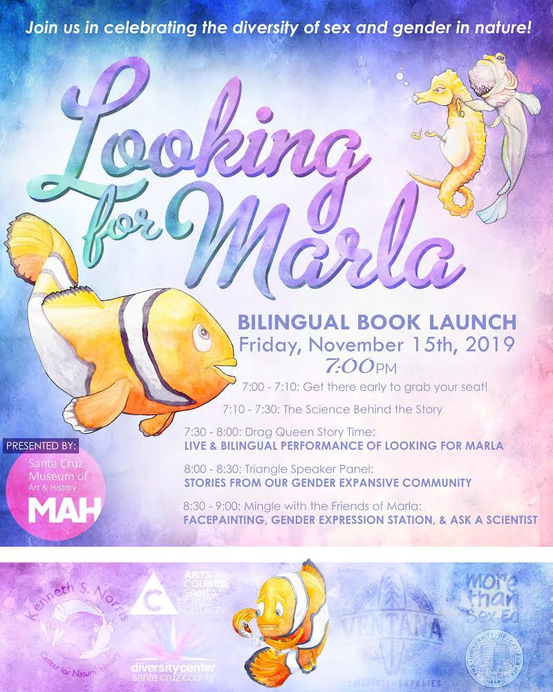 Nov 15 Marla Book Launch Flyer with book cover image