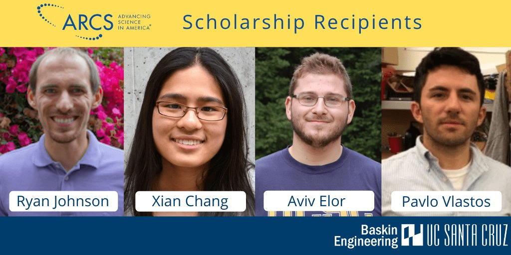 ARCS Foundation scholarships support UCSC graduate students