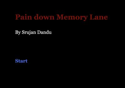 Pain down Memory Lane