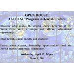 Jewish Studies Open House