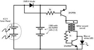 solar lantern circuit