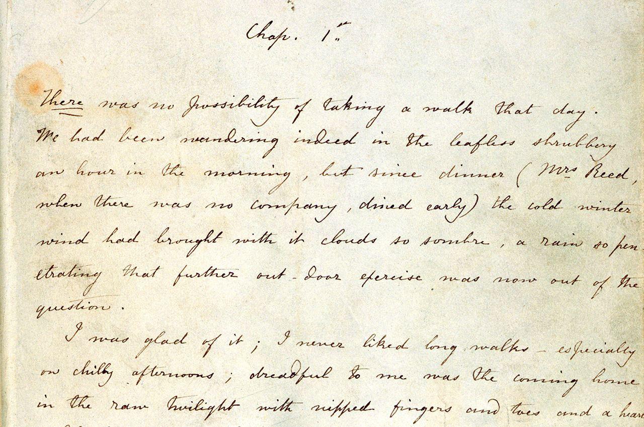 Jane Eyre Manuscript
