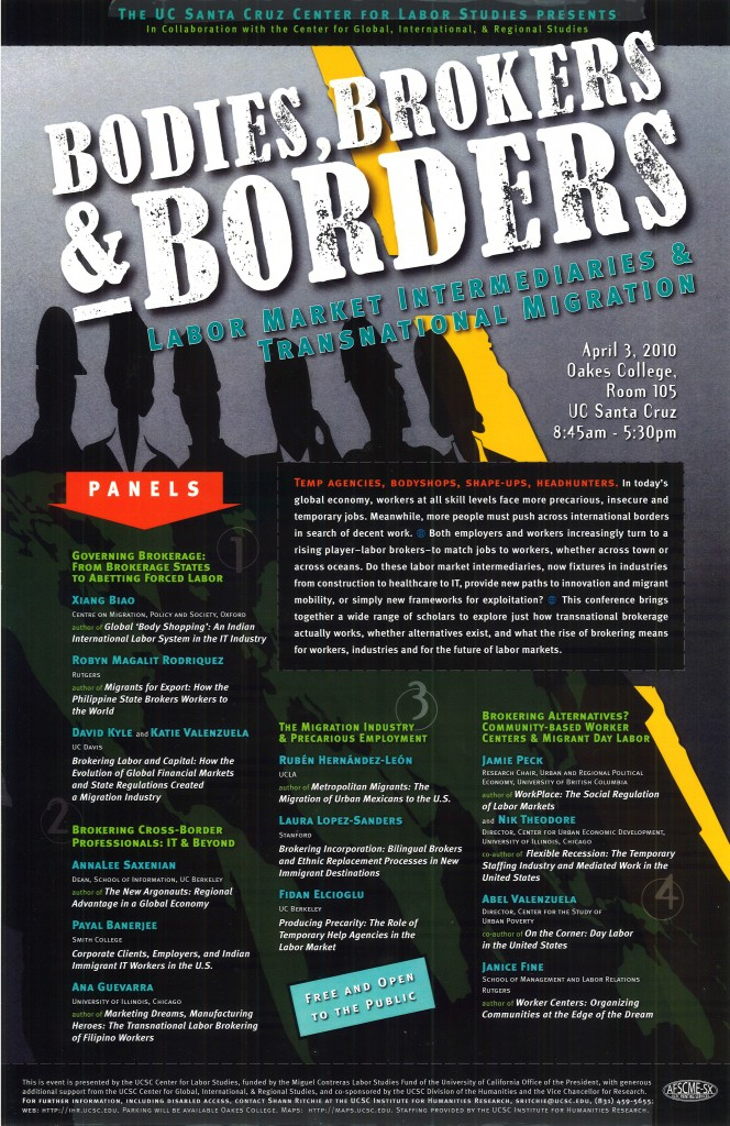 Bodies, Brokers & Borders conference poster