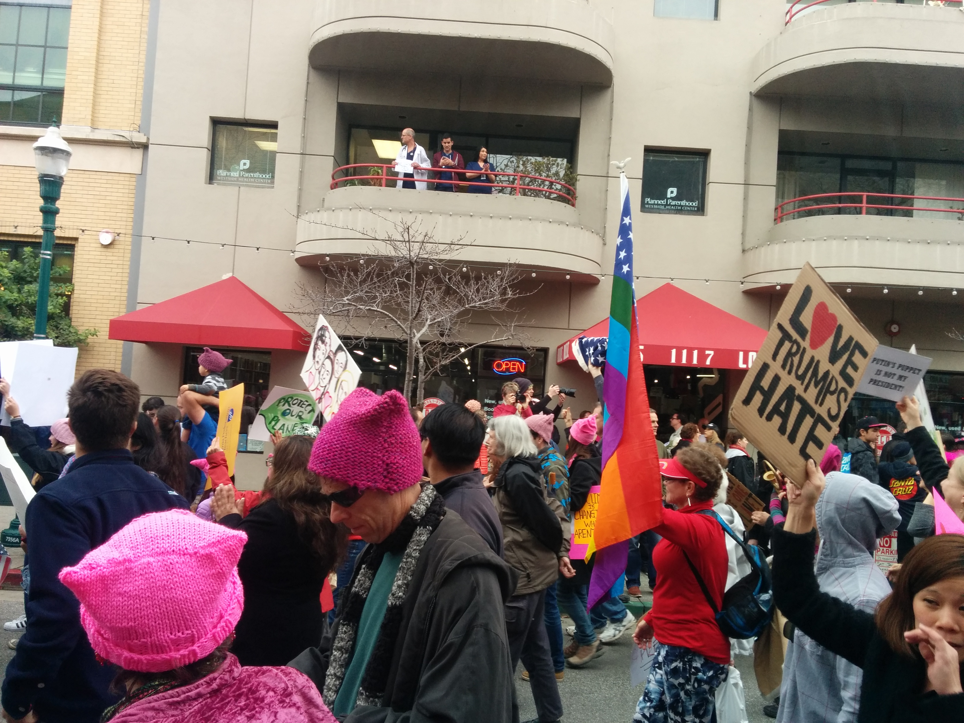 on Pacific Avenue, going by Planned Parenthood