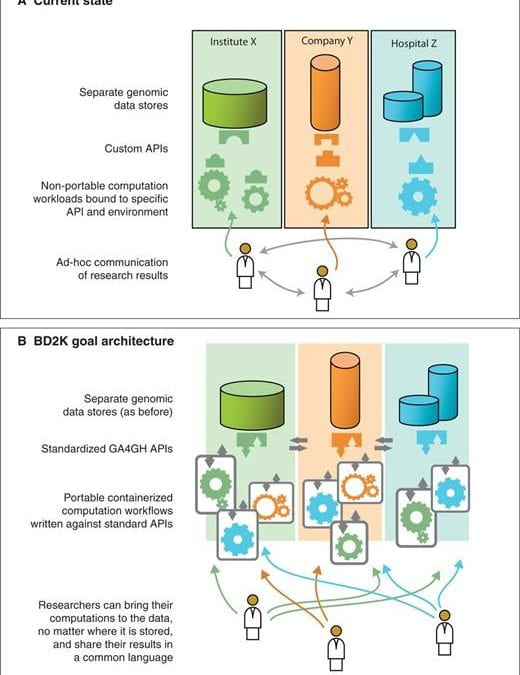 The NIH BD2K center for big data in translational genomics