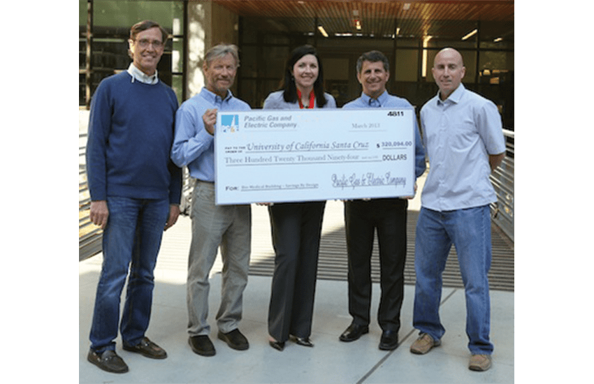 """PG&E rewards UCSC for """"green"""" energy savings at BioMedical building"""