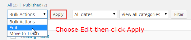 bulk editing