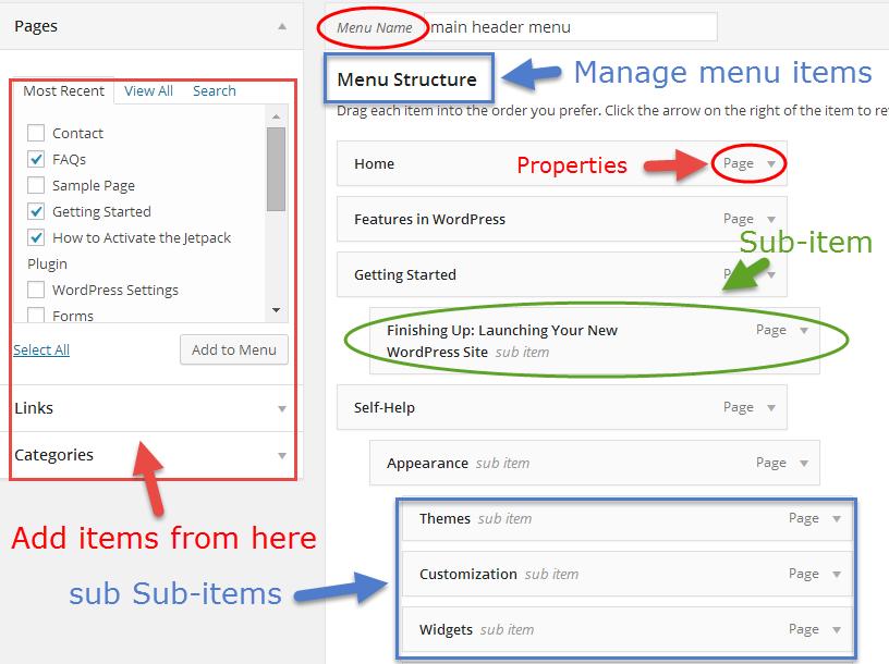 screenshot custom menu UI