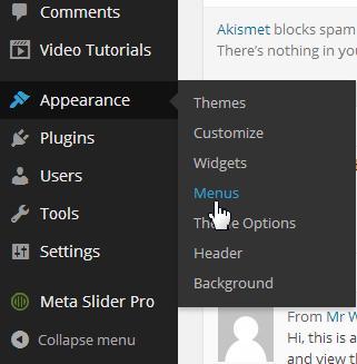 custom menu screenshot
